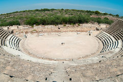 Ruins of ancient theater in Salamis Stock Image