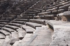 Ruins of ancient theater. Seats only close up Stock Photography