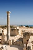Ruins of ancient theatre - column marble Stock Images