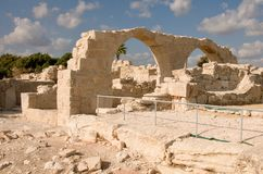Ruins of ancient theatre - column marble Royalty Free Stock Photo
