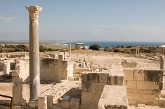 Ruins of ancient theatre Stock Images