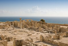 Ruins of ancient theatre Royalty Free Stock Images