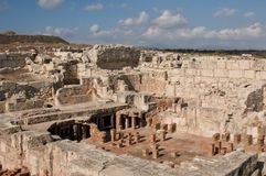 Ruins of ancient theatre Stock Photography