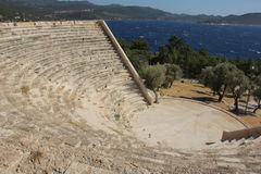 Ruins of the Ancient Theatre Royalty Free Stock Photo