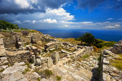 Ruins of Ancient Thera Royalty Free Stock Image
