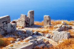 The ruins of Ancient Thera, Santorini Royalty Free Stock Image