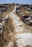 Ruins at Ancient Thira, Santorini Stock Photography