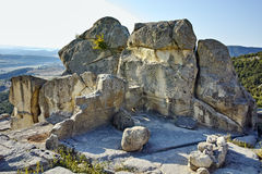 Ruins of The ancient Thracian city of Perperikon,  Bulgaria Stock Photo