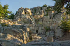 Ruins of The ancient Thracian city of Perperikon, Bulgaria Stock Image