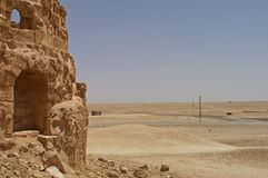 Ruins of ancient town Arrassafeh near Raqqa in Syria Royalty Free Stock Images