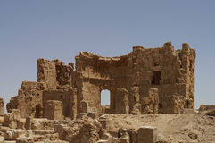 Ruins of ancient town Arrassafeh near Raqqa in Syria Stock Photos
