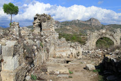 Ruins in Aspendos Stock Photos