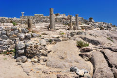 Ruins of ancient town Astipalea. In Kefalos (Kos island, Greece Stock Images