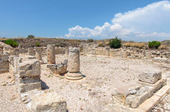 Ruins of ancient town in Cyprus Royalty Free Stock Photo