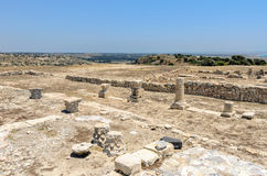 Ruins of ancient town on Cyprus Royalty Free Stock Images