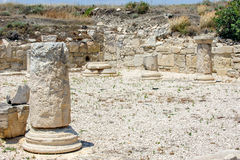 Ruins of ancient town in Cyprus Stock Images