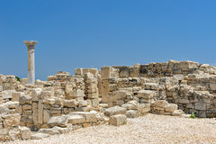 Ruins of ancient town on Cyprus Royalty Free Stock Image