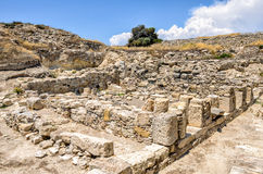 Ruins of ancient town on Cyprus Royalty Free Stock Photography