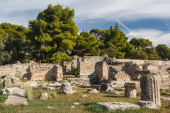 Ruins of the ancient town of Epidaurus Royalty Free Stock Photos