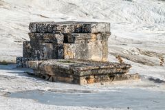 Ruins of the ancient town Hierapolis, now Pamukkale. Turkey stock images