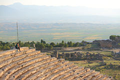 Ruins of ancient town Hierapolis Royalty Free Stock Photography