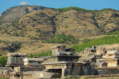 Ruins of ancient town Hierapolis Stock Image