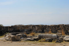 Ruins in the ancient town Hierapolis Turkey Stock Image
