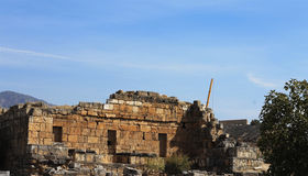 Ruins in the ancient town Hierapolis Turkey Stock Photography