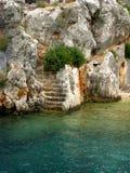 Ruins of ancient town kekova turkey Royalty Free Stock Photography