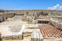 Ruins of ancient town Kourion on Cyprus. Ruins of ancient town Kourion in archaeological museum on Cyprus Royalty Free Stock Image