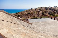 Ruins of  ancient town Kourion on Cyprus Royalty Free Stock Photos