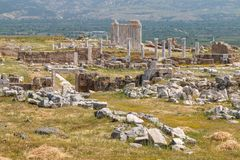 Ruins of the ancient town Laodicea on the Lycus. Turkey stock photography
