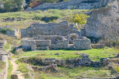 Ruins of ancient town Stock Photo