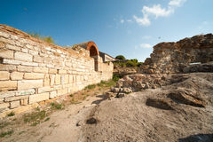 The ruins of the ancient town of Nessebar in Bulgaria Stock Photography
