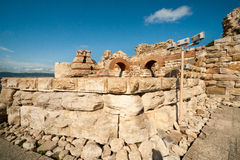 Ruins of the ancient town of Nessebar, Bulgaria Royalty Free Stock Photography