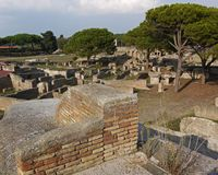 Ruins of ancient town Ostia Royalty Free Stock Photography