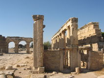 Ruins of ancient town, Pamukale, Turkey stock photography