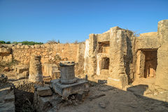 Ruins of ancient town in Paphos on Cyprus Royalty Free Stock Photography