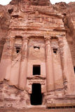 Ruins of ancient town Petra Royalty Free Stock Photos