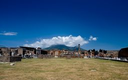 Ruins of ancient town Pompeii Stock Photography