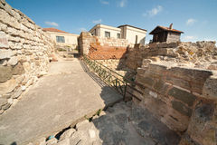 The ruins of the ancient town ramparts. Nessebar. Bulgaria Stock Photo