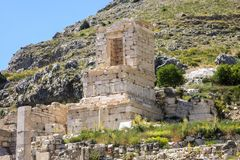 Ruins of ancient town Sagalassos in Antalya region of Turkey. Travel and sighseeing concept. Ruins of ancient town Sagalassos located in the Taurus mountains of Stock Image
