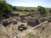 Ruins of ancient Troia city, Canakkale Dardanelles / Turkey stock photos