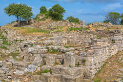 Ruins of ancient Troy Royalty Free Stock Photography