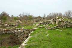 Ruins of ancient troy city Stock Photo