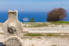 Ruins of Ancient Vouni Palace in Cyprus. Ruins of Ancient Vouni Palace in the Island of Cyprus, East Mediterranean, Europe stock photo