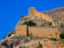Ruins of an ancient wall of a pirate fortress. Stock Images