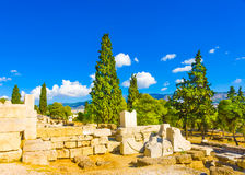 Ruins ander Acropolis Royalty Free Stock Image