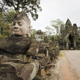 Ruins at angkor in cambodia Royalty Free Stock Photo