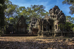Ruins at Angkor complex. These ruins are in Angkor complex. In the middle of the forest. The sensation of peace is great when walking around Stock Photo